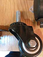 Колесо мебельная д40 резина с двумя подшипником