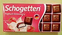 Шоколад Schogetten клубничный йогурт молочный 100 г, фото 1