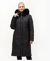 Пальто зимове з натуральної хутряною опушкою, з 52-70 розмір