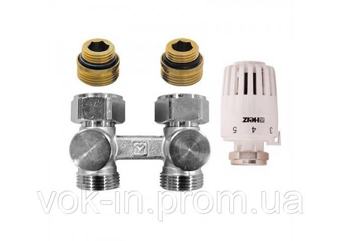 Комплект нижнего подключения радиатора прямой 1/2 ( M 23x 1.5 ) HERZ - PROJECT (V376622)