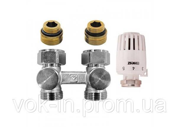 Комплект нижнего подключения радиатора прямой 1/2 ( M 23x 1.5 ) HERZ - PROJECT (V376622), фото 2