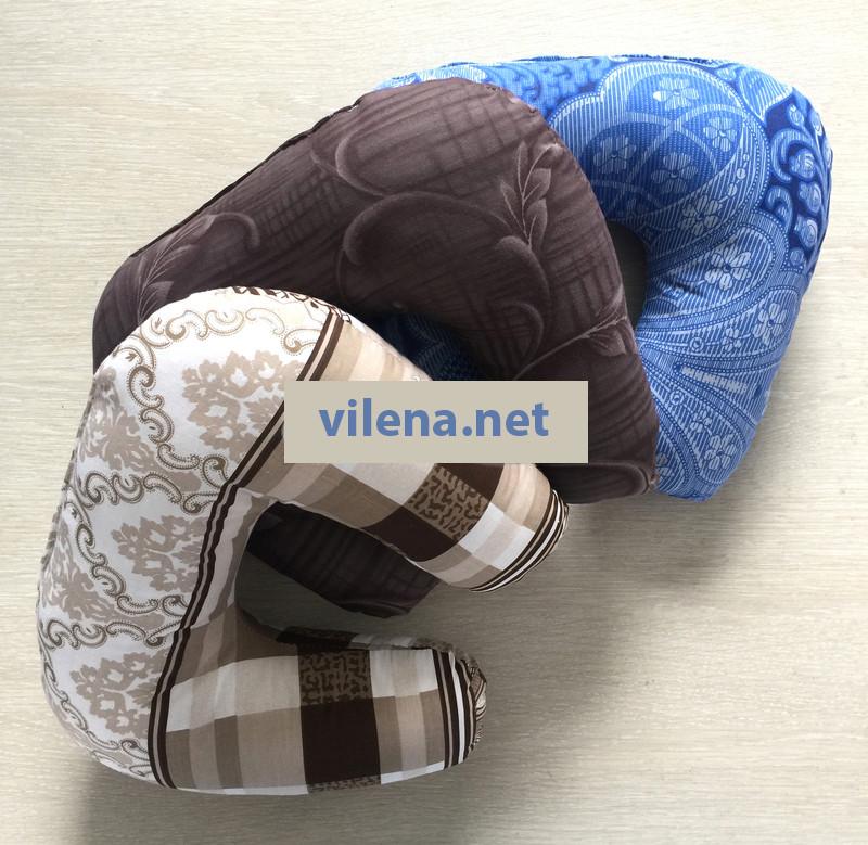 Дорожная подушка подголовник цветная