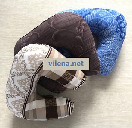 Дорожная подушка подголовник цветная, фото 2