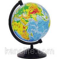 Глобус Физический d-16см (горы, реки, леса, пустыни) РУС