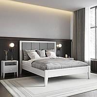 Кровать деревянная Верона с мягким изголовьем