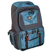 Рюкзак для рыбалки с 4 контейнерами Ranger bag 1 (30л), серый/синий