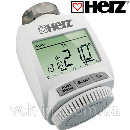 Термостатическая головка Herz ETKF+ с радиоканалом 1825101, фото 2