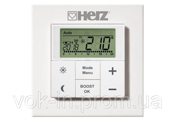 Характеристики Настінний термостат HERZ для дистанційного управління термостатичними головками ЕТКF+ 182510