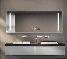 Зеркало DUSEL LED DE-M1041 100смх75см сенсорное включение+подогрев+часы-темп+Bluetooth