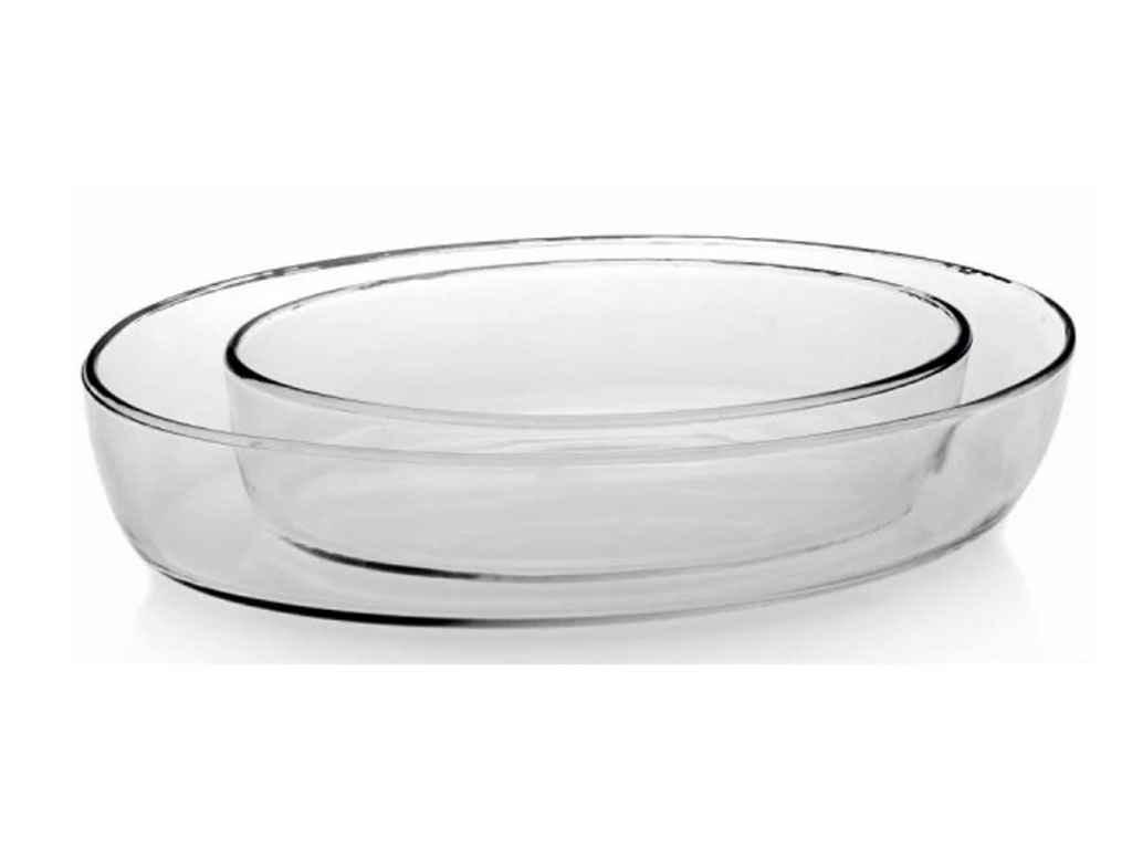 Набор овальных блюд для запекания Pasabahce Borcam 2 предмета (159033)