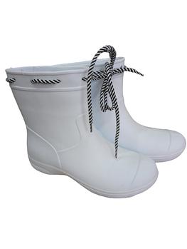 Резиновые белые сапоги из пены, непромокаемые полусапожки Сделано в Украине.