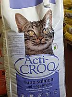 Корм сухой для взрослых котов с тунцем и лососем Акти-Крок 20 кг