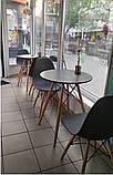 Стол обеденный Тауэр Вуд черный 60 см на буковых ножках круглый SDM Group (бесплатная доставка), фото 2