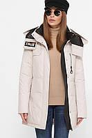 Однотонная женская куртка зима, фото 1