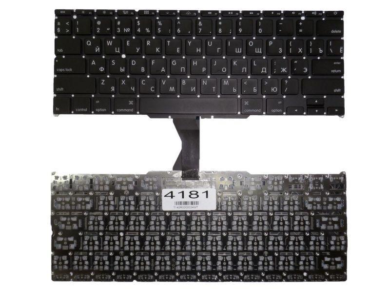 """Клавиатура для ноутбука Apple MacBook Air 13"""" A1369 A1466 горизонтальный Enter черная"""