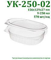 Одноразовый контейнер для салатов и полуфабрикатов ПЭТ
