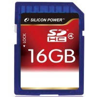 Карта памяти Silicon power SDHC 16Gb class 4
