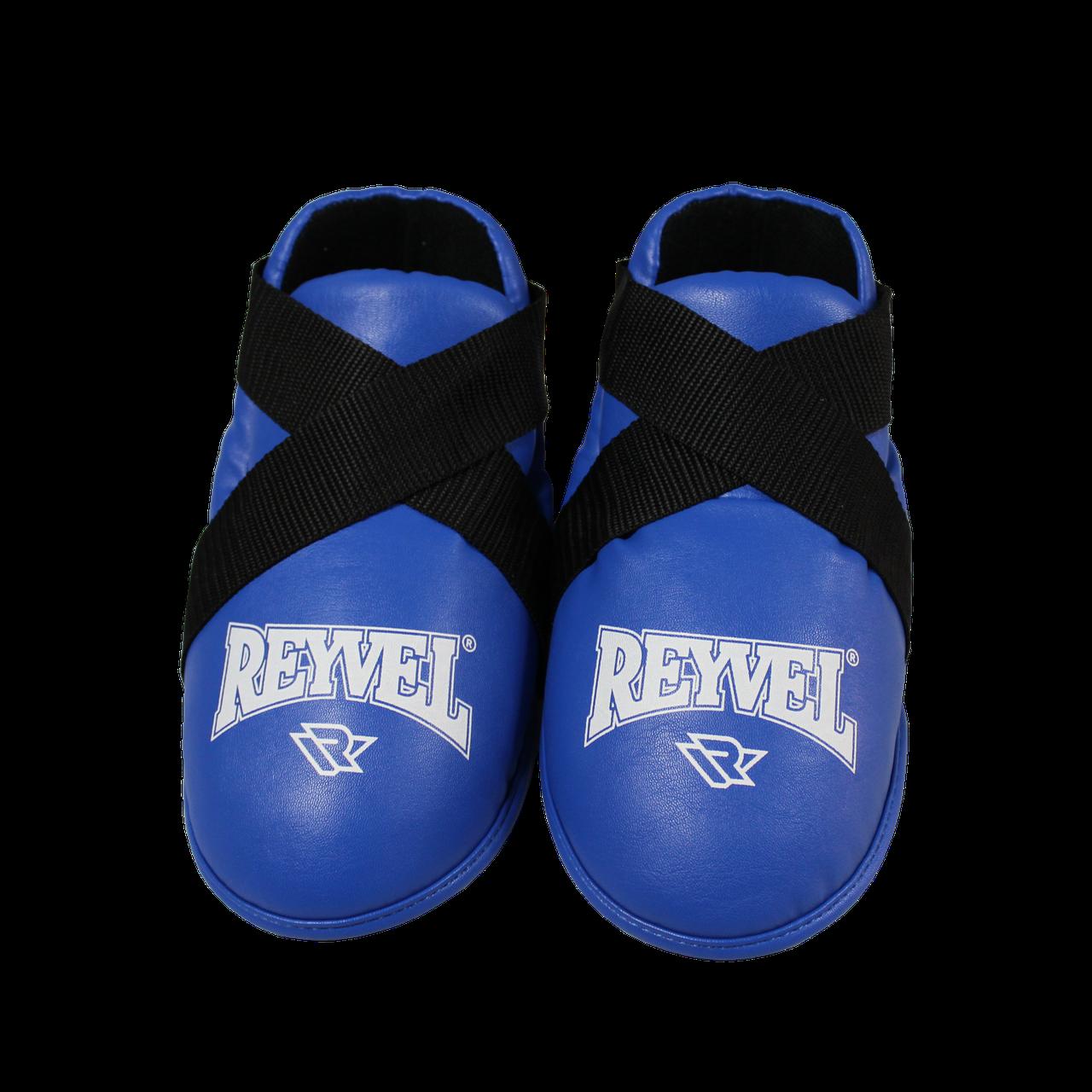 Фути (киксы) Reyvel для єдиноборств вініл сині (р-рЅ-XL)