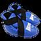 Фути (киксы) Reyvel для єдиноборств вініл сині (р-рЅ-XL), фото 2