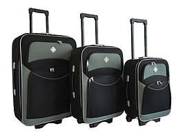 Набір валіз на колесах Bonro Style Чорно-сірий 3 штуки