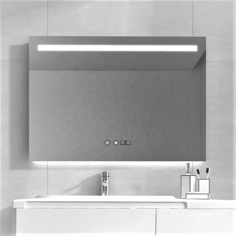 Зеркало DUSEL LED DE-M3021 80смх65см сенсорное включение+подогрев+часы/темп
