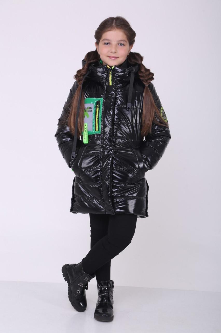 Зимові куртки для дівчинки від виробника 36-44 чорний