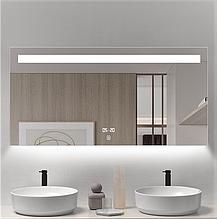 Дзеркало DUSEL LED DE-M3021 120смх75см сенсорне включення+підігрів+годинник/темп