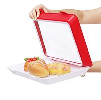 Многоразовый вакуумный лоток для хранения продуктов с системой сохранения свежести