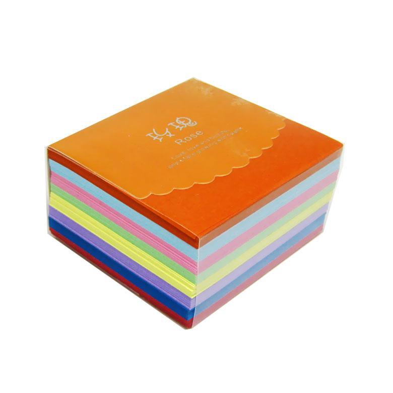 Бумага для оригами, цветная 6,5*6,5см 400л. 8цв. Camis 80г/м2 MJ-20