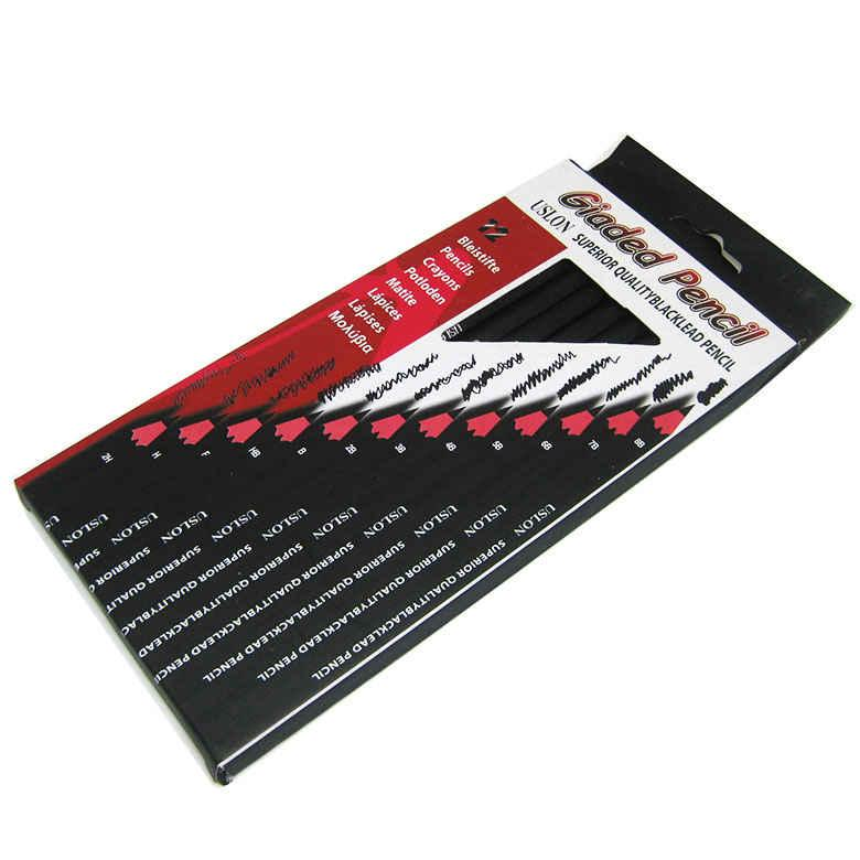 Набор графитовых карандашей Giaded Pencil 8B-2H 12шт. USL-967