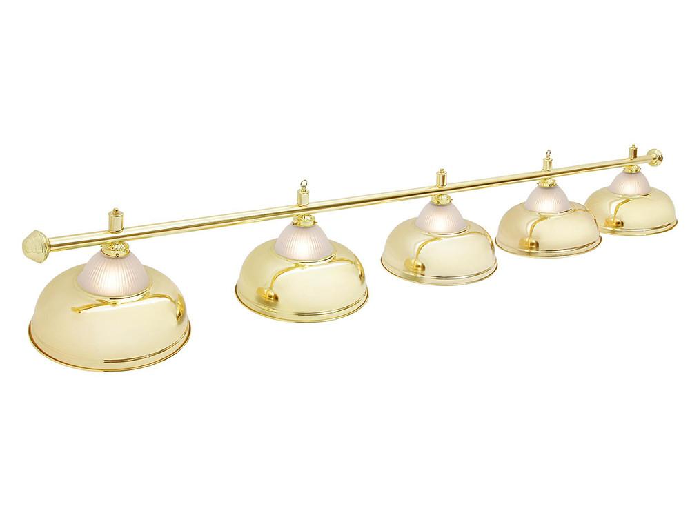 Светильник бильярдный Queen Gold 5 плафонов