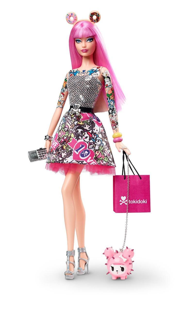 2015 Tokidoki Barbie коллекционная Барби Collector Black Label 10th Anniversary Doll