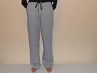 Штаны мужские теплые серые два кармана,шнурок.