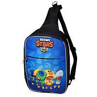 Детская сумка через плечо Brawl Stars Бравл Старс. Четыре Лиона (Leon)