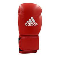 Перчатки для бокса Adidas с аккредитацией WAKO (кикбоксинг) из нат. кожи (ADIWAKOG1-RD, красные)