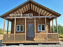 Дачний будинок 6*10 з терасою
