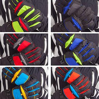 Перчатки горнолыжные теплые мужские (р-р M-L, L-XL, уп.-12пар, цена за 1пару, цвета в ассортименте)