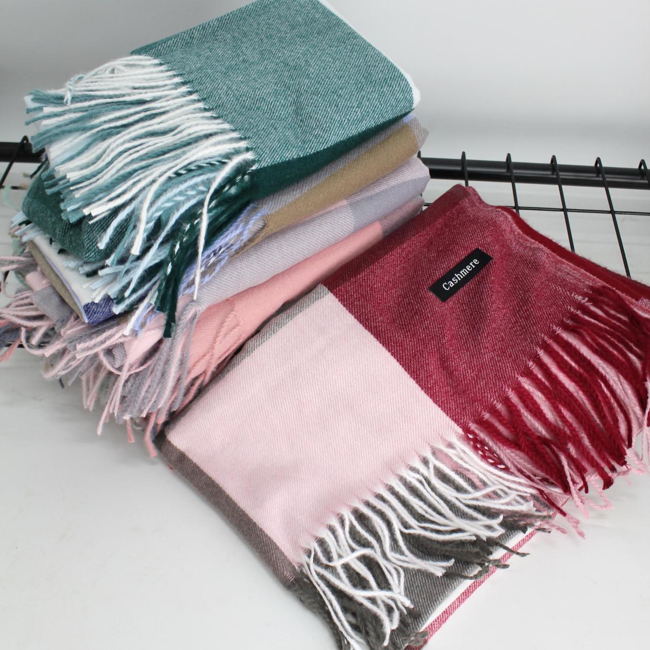 Кашемировый теплый шарф палантин  Cashmere 138032
