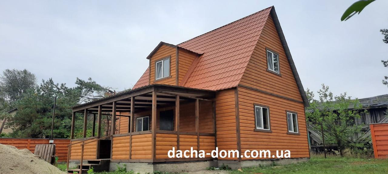 Дачный дом  6м*8м двухэтажный с террасой 6м*3м