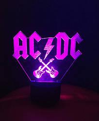 3d-светильник AC/DC, АС/ДС, 3д-ночник, несколько подсветок (на батарейке)