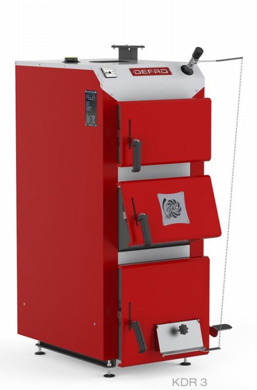 Котел твердопаливний DEFRO KDR 3 25 кВт. червоно-сірий