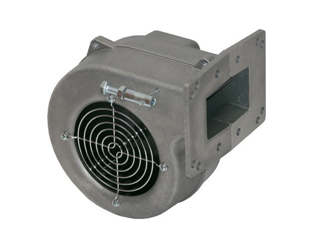 Вентилятор для котла KG Elektronik DPM 02 крыльчатка метал фланец 10,5х13,5 серый