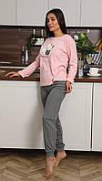 Удобная Пижама Женская С Длинным Рукавом Размер M (44)