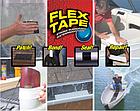 ОПТ ОПТ Водонепроникна ізоляційна клейка стрічка скотч 10х150 см Флекс тейп Flex Tape чорний, фото 3