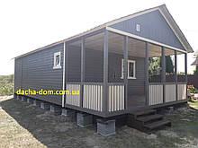 Каркасний дачний будинок 6м*10,5 м включаючи терасу