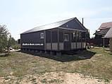 Каркасний дачний будинок 6м*10,5 м включаючи терасу, фото 3