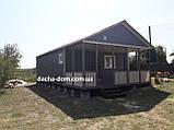 Каркасний дачний будинок 6м*10,5 м включаючи терасу, фото 2