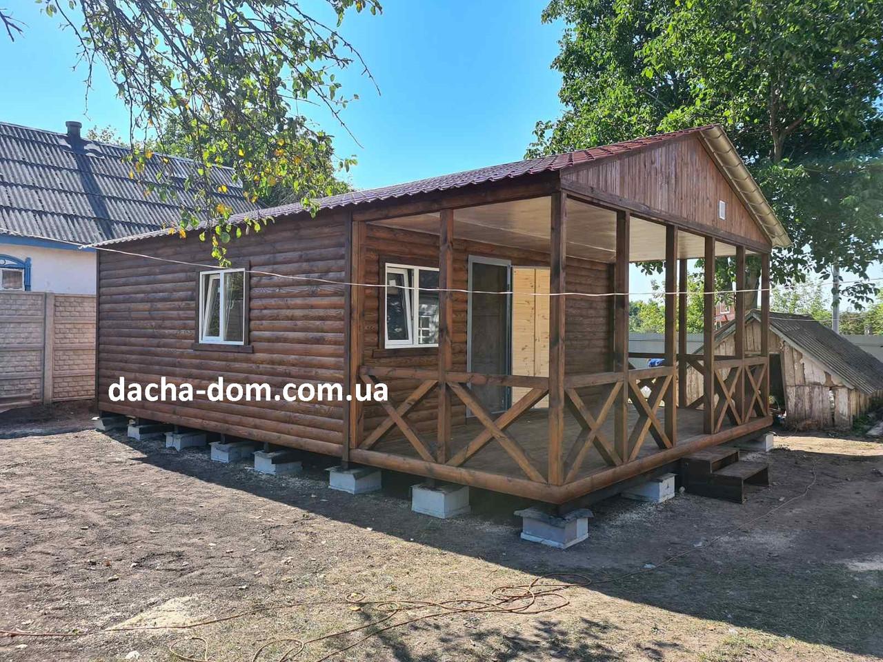 Дачный домик 6м*8,5м включая  террасу