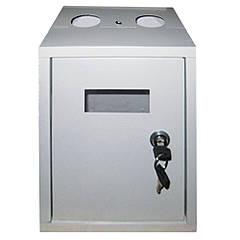 Шкафчик для газового счетчика без зад. стенки G4 белый (метал. корпус) 220*175*280мм