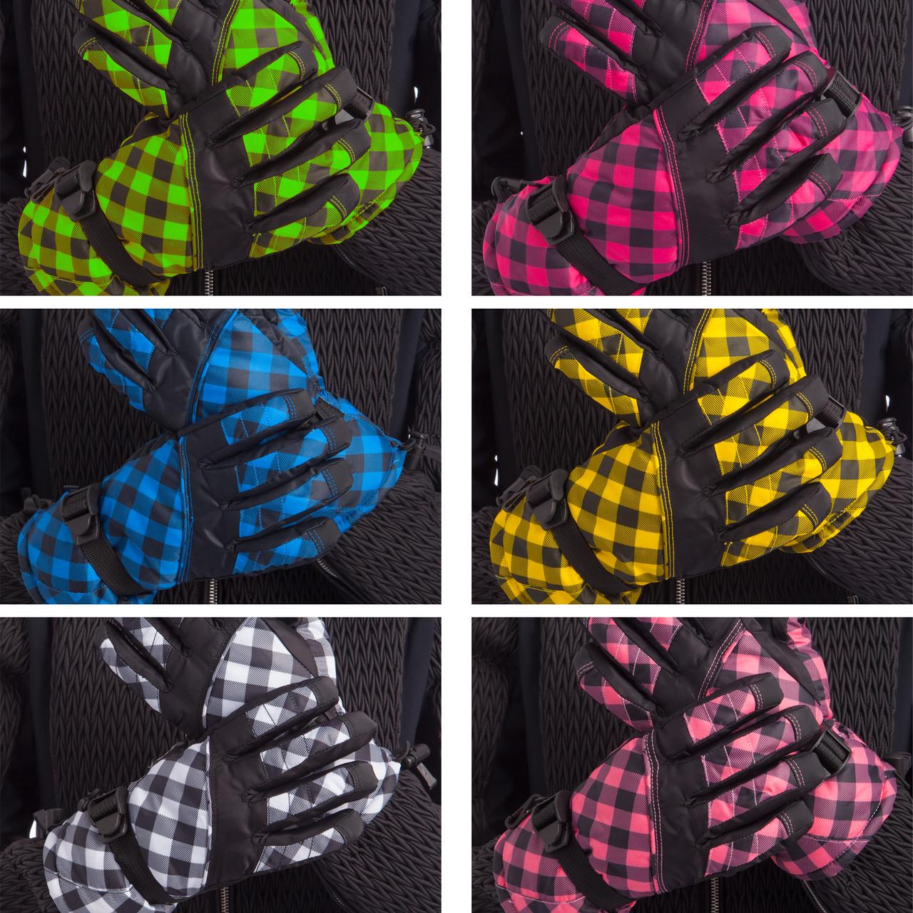 Перчатки горнолыжные теплые женские (р-р M-L, L-XL, уп.-12пар, цена за 1пару, цвета в ассортименте)